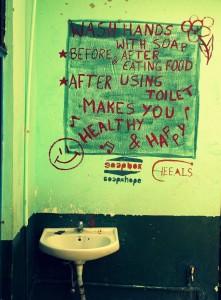 Heeals WASH On Wall (1)
