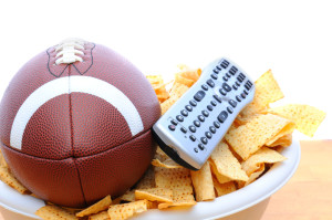 football-tv-remote-and-chips